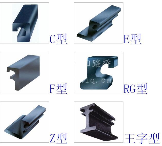 桥梁伸缩缝常用型钢断面